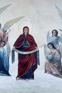 Покров Пресвятой Богородицы. Фреска Духосошественского храма